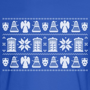 Doctor Who Ugly Christmas Design Hoodies - Men's Long Sleeve T-Shirt