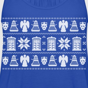 Doctor Who Ugly Christmas Design Hoodies - Women's Flowy Tank Top by Bella
