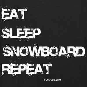 Eat Sleep Snowboard Repeat Hoodie - Back Print - Men's Premium Tank