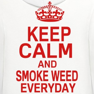 KEEP CALM AND SMOKE WEED EVERYDAY T-Shirts - Contrast Hoodie