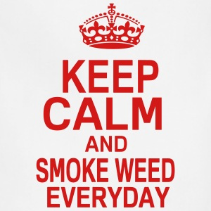 KEEP CALM AND SMOKE WEED EVERYDAY T-Shirts - Adjustable Apron