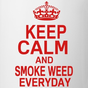 KEEP CALM AND SMOKE WEED EVERYDAY T-Shirts - Coffee/Tea Mug
