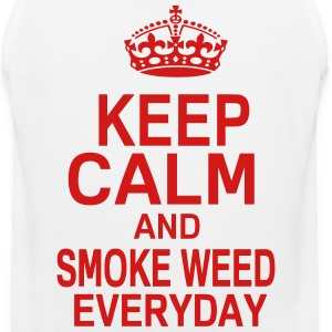 KEEP CALM AND SMOKE WEED EVERYDAY T-Shirts - Men's Premium Tank