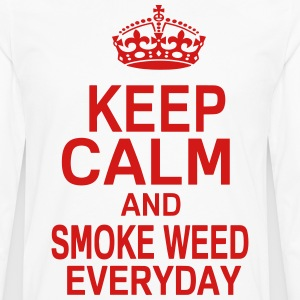 KEEP CALM AND SMOKE WEED EVERYDAY T-Shirts - Men's Premium Long Sleeve T-Shirt