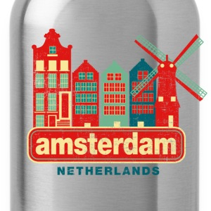 Distressed Amsterdam T-Shirts - Water Bottle