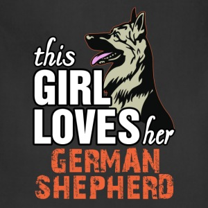 This Girl Loves Her German Shepherd Women's T-Shirts - Adjustable Apron