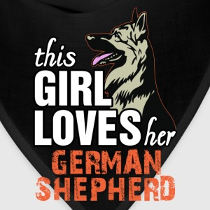 This Girl Loves Her German Shepherd Women's T-Shirts - Bandana