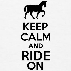 Keep Calm And Ride On Accessories - Men's T-Shirt