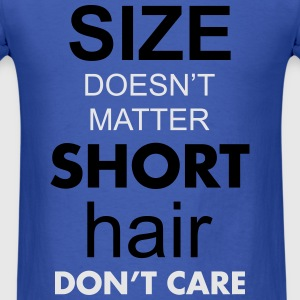 size doesnt matter short hair dont care Long Sleev - Men's T-Shirt