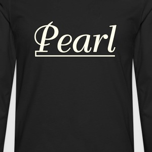 Pearl  Drums  White - Men's Premium Long Sleeve T-Shirt