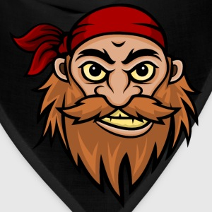 Bearded Pirate Mascot Hoodies - Bandana
