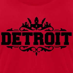 DETROIT michigan usa down with detroit Hoodies - Men's T-Shirt by American Apparel