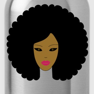 Plain Afro (Pink Lipstick) - Water Bottle