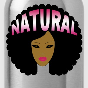 Natural Afro (Pink) - Water Bottle