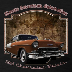 Kids Black Hoodie | 55 Chevy | Classic American Au - Men's T-Shirt