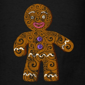 Swirly Gingerbread Man - Men's T-Shirt