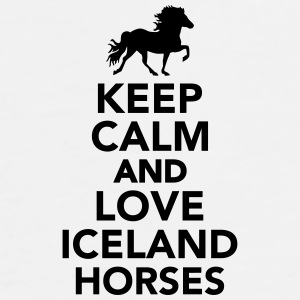 Keep calm and love Iceland horses Accessories - Men's Premium T-Shirt