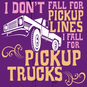 I Fall for Pickup Trucks - Graphic Tee - Women's Hoodie