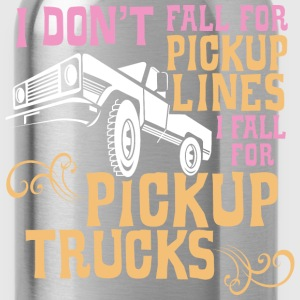 I Fall for Pickup Trucks - Graphic Tee - Water Bottle