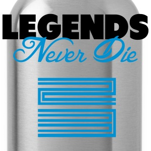 Legends Never Die Retro 11 Blue Shirt T-Shirts - Water Bottle