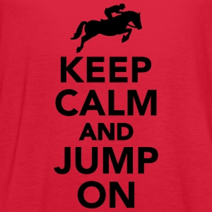 Keep calm and Jump on Women's T-Shirts - Women's Flowy Tank Top by Bella