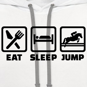 Eat Sleep Show jumping Women's T-Shirts - Contrast Hoodie