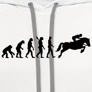 Evolution Show jumping Women's T-Shirts - Contrast Hoodie