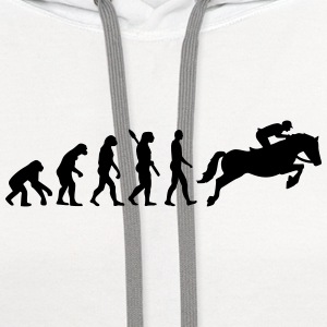 Evolution Show jumping Kids' Shirts - Contrast Hoodie