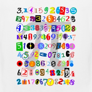 Colorful and Fun Depiction of Pi Calculated - Men's Premium Tank