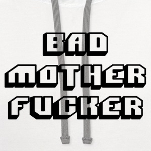 Pulp fiction - bad mother fucker - Contrast Hoodie