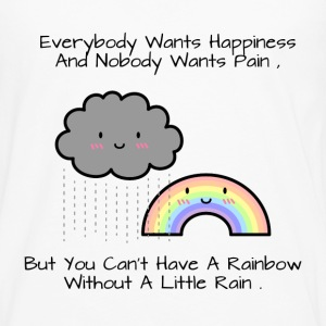 Cute Rainbow Happiness Quote Women's T-Shirts - Men's Premium Long Sleeve T-Shirt