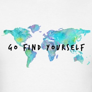 Go Find Yourself - Travel The World! Hoodies - Men's T-Shirt