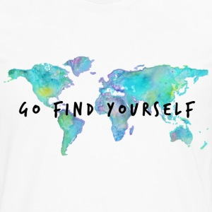 Go Find Yourself - Travel The World! Hoodies - Men's Premium Long Sleeve T-Shirt
