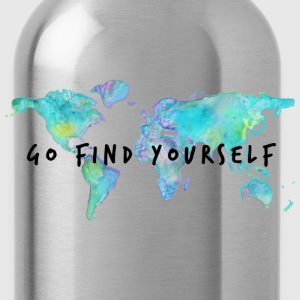 Go Find Yourself - Travel The World! Hoodies - Water Bottle
