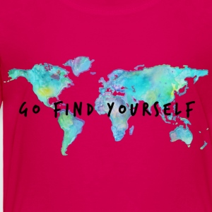 Go Find Yourself - Travel The World! Kids' Shirts - Toddler Premium T-Shirt