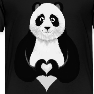 Panda - Heart  Hand Gesture Kids' Shirts - Toddler Premium T-Shirt