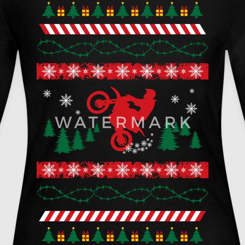Ugly Christmas Sweater MX Long Sleeve Shirts - Women's Long Sleeve Jersey T-Shirt