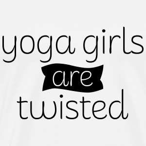 Yoga Girls Are Twisted Tank Tops - Men's Premium T-Shirt