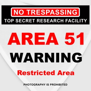 Area 51 Dreamland Warning - Bandana