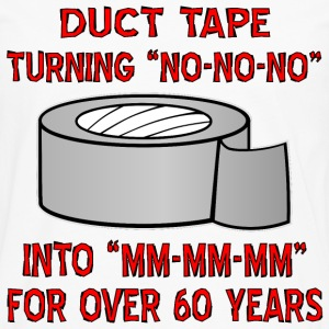 Duct Tape Turning No Into Mm-Mm-Mm - Men's Premium Long Sleeve T-Shirt