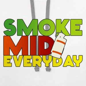 Smoke Mid Everyday Color T-Shirt - Contrast Hoodie