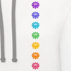 Lotus Chakras, Cosmic Energy Centers, Evolution    Women's T-Shirts - Contrast Hoodie