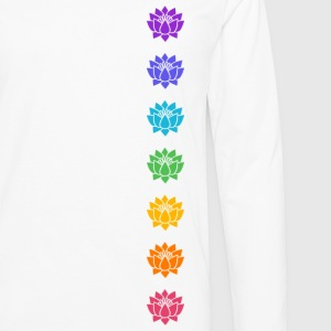 Lotus Chakras, Cosmic Energy Centers, Evolution    Women's T-Shirts - Men's Premium Long Sleeve T-Shirt