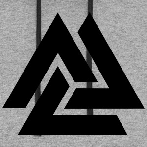 Valknut, Odins Knot, 9 Worlds of Yggdrasil T-Shirts - Colorblock Hoodie