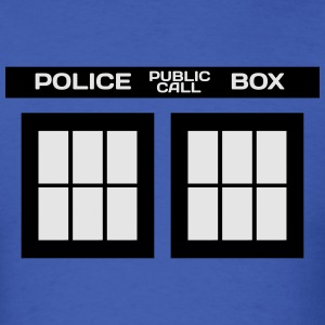 TARDIS PHONE BOOTH MEN CREWNECK SWEATSHIRT - Men's T-Shirt