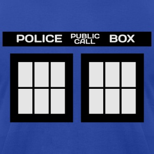 TARDIS PHONE BOOTH MEN 3XL/4XL SWEATSHIRT - Men's T-Shirt by American Apparel