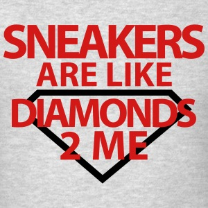 sneakers are like diamonds Long Sleeve Shirts - Men's T-Shirt
