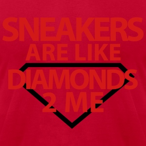 sneakers are like diamonds Hoodies - Men's T-Shirt by American Apparel