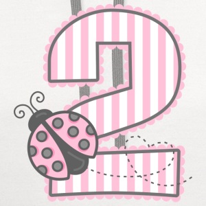 Pink Ladybug 2nd Birthday Baby & Toddler Shirts - Contrast Hoodie