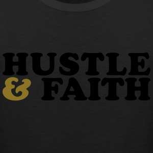 Hustle and Faith Christian Urban T-shirt Long Sleeve Shirts - Men's Premium Tank